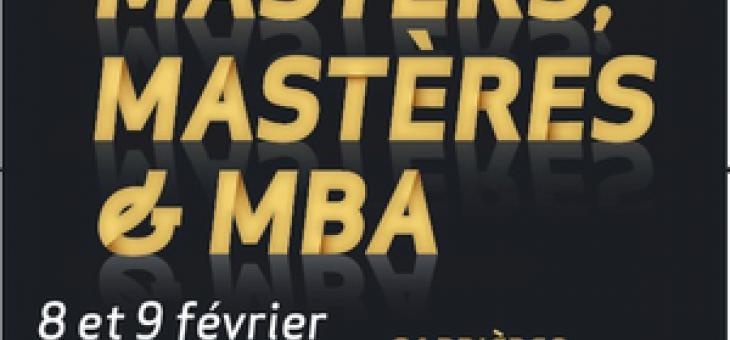 Salon Spécial Masters, mastères et MBA  le 8 et 9 février 2013