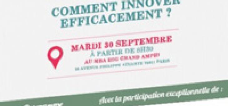 """Conférence """"50 nuances d'innovation"""" et petit-déjeuner mardi 30 septembre à 8h30"""