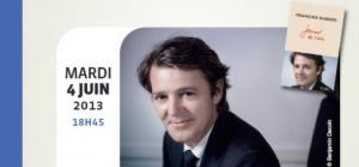 Conférence crise mondiale et le nouvel ordre économique Francois Baroin