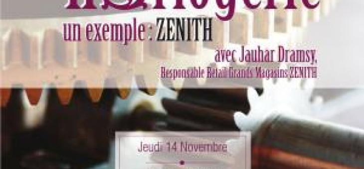 Conférence professionnelle Luxe avec la maison  ZENITH le 14 novembre